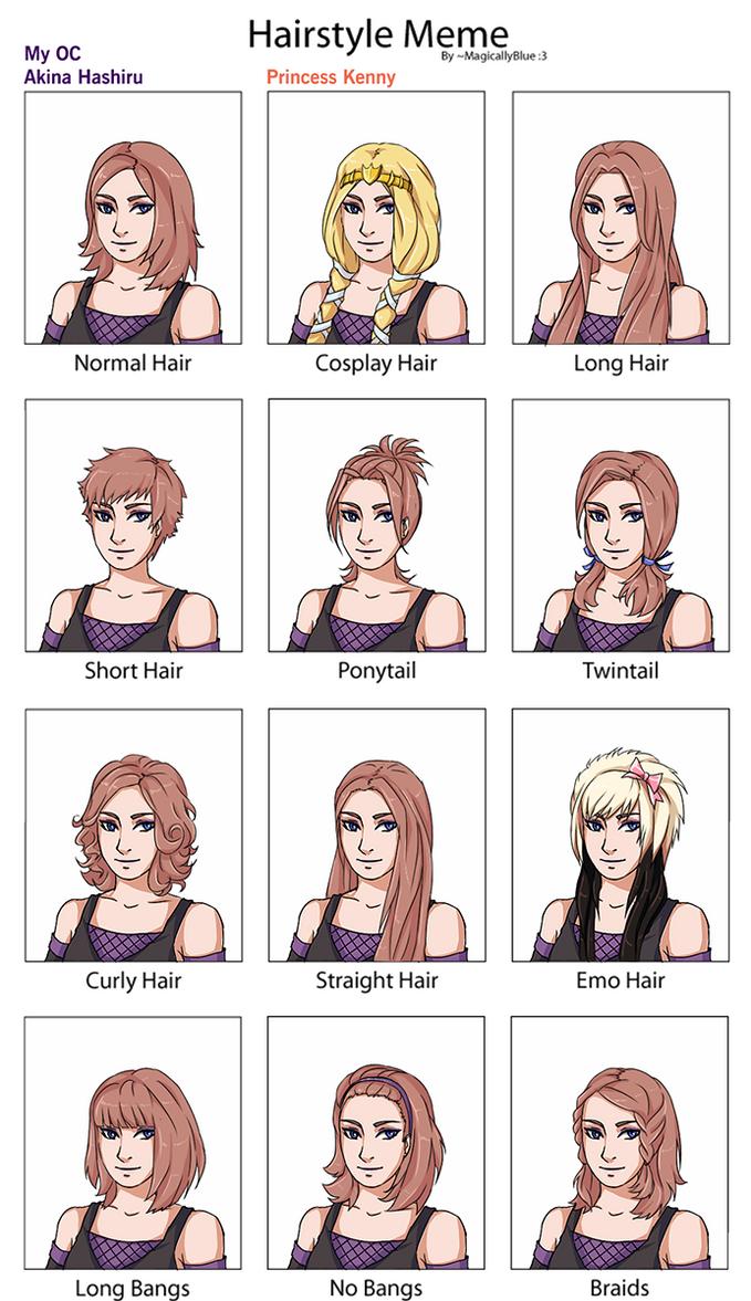 hairstyle meme Akina by AkinaSilver