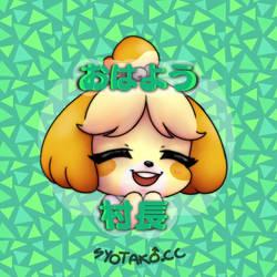 isabelle / shizue badge design by syo-lenai