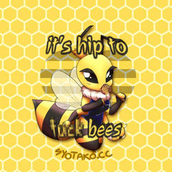 hip bees pin design by syo-lenai
