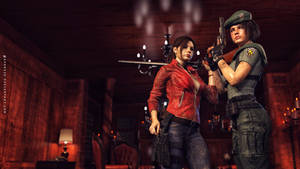 Jill Valentine and Claire Redfield