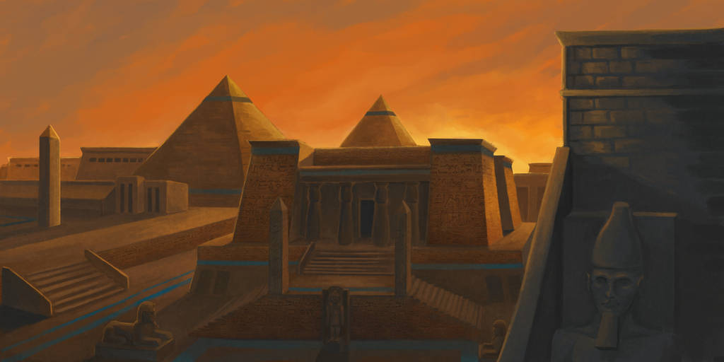 A Necropolis at Memphis by ApathyHouseArt