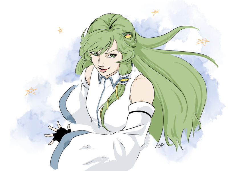 Sanae sketch by Tres-Iques