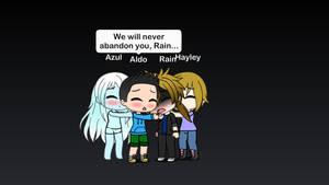 Rain's Friends Comforting their Friend
