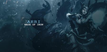 ahri made of iron by Adordesign