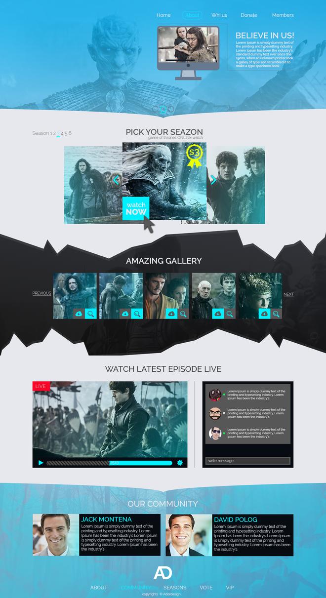 Game-of-thrones-web-design by Adordesign