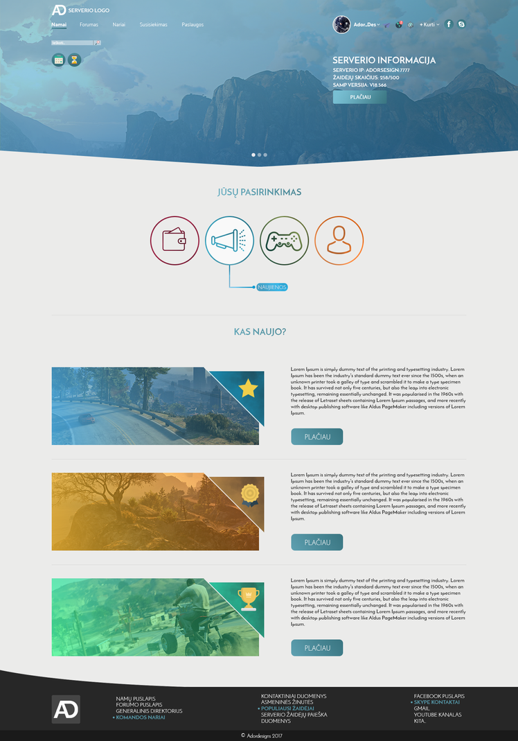 Gta-SAMP-ips-web-design (Home page) by Adordesign