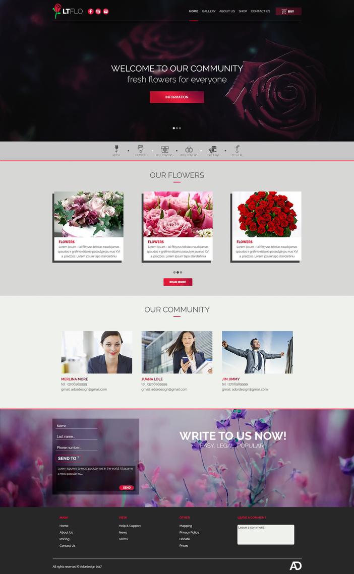 Florist-web-design by Adordesign