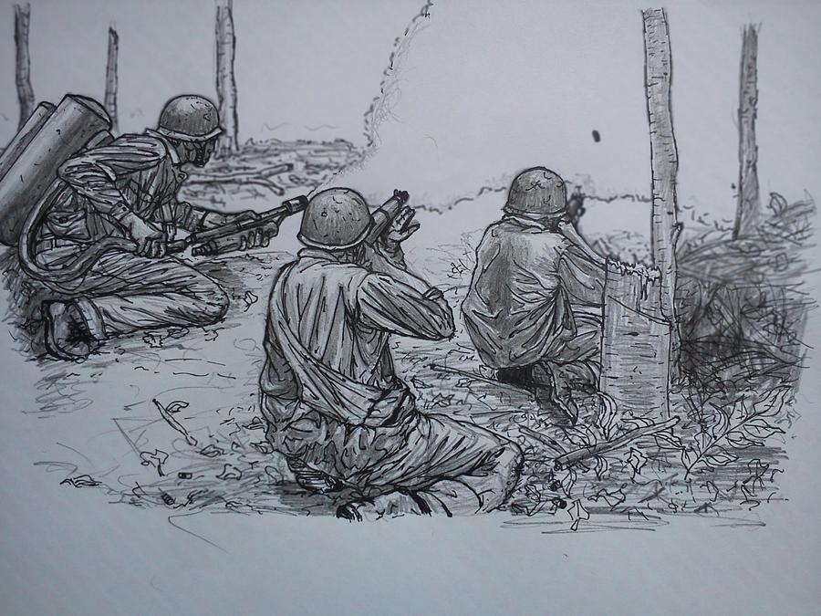 Marines sketch by NOBE... Cool Grim Reaper Drawings