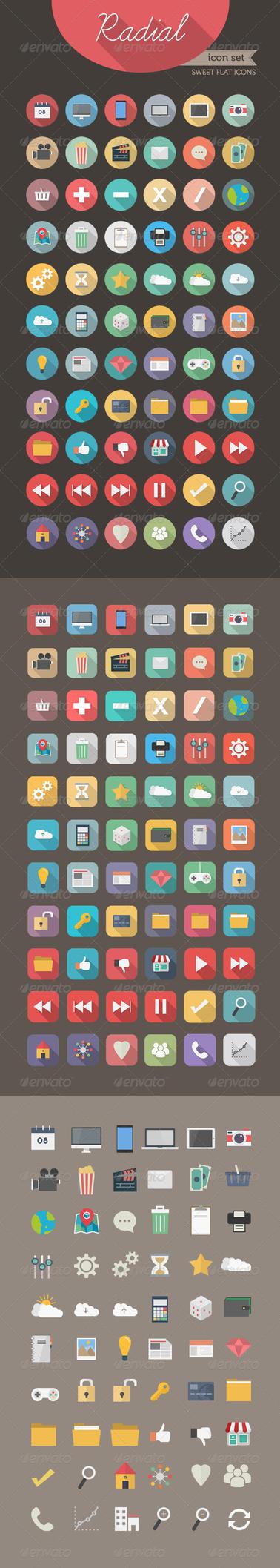 Radial Icon set 3 - Sweet Flat Icons by Softboxindia