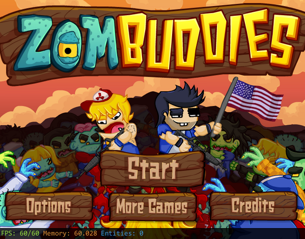 Zombuddies - Main Menu by Kandles