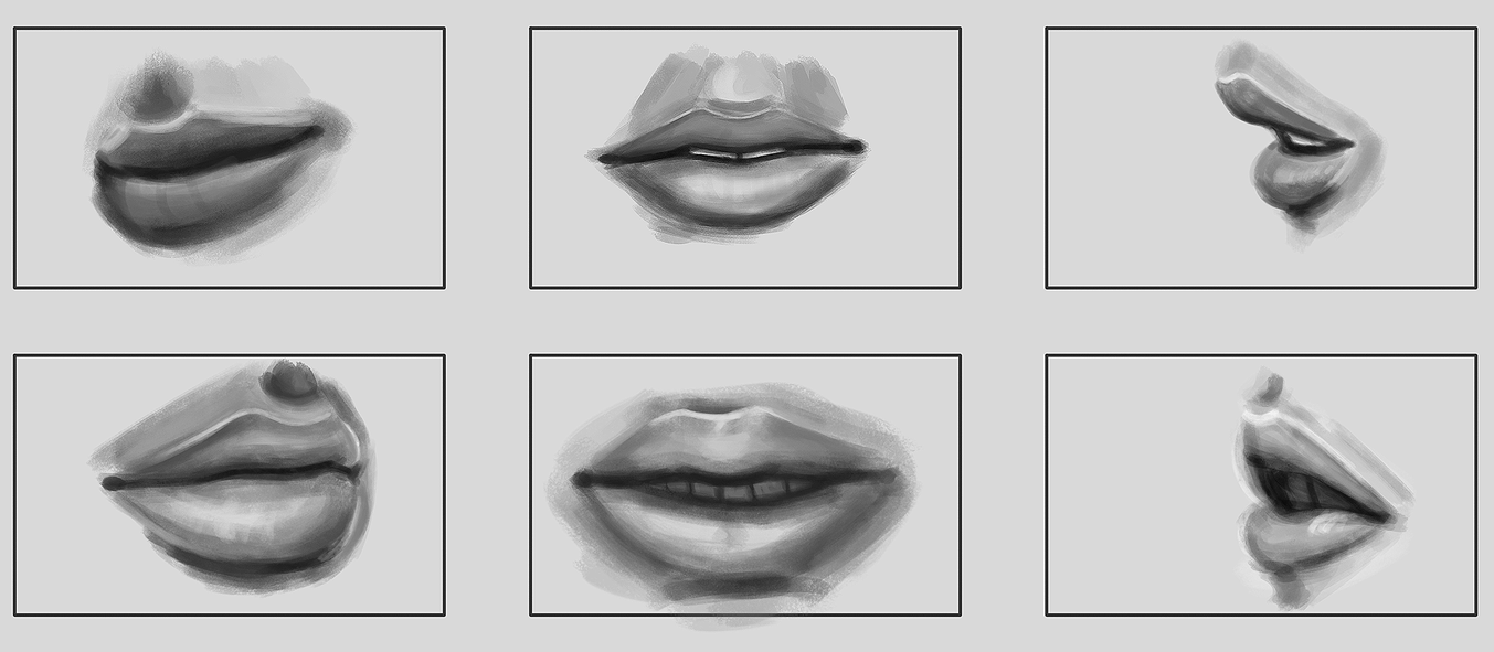 Lip Study by Kandles
