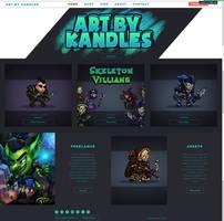 Art By Kandles Website Launch