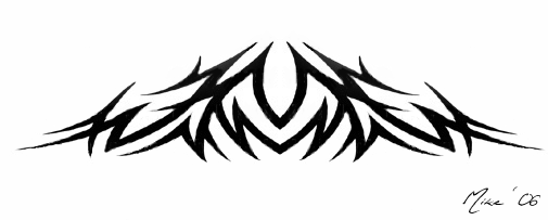 Tribal Mountain Tattoo Tribal Mountain Tattoo by