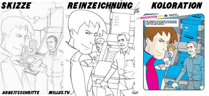WACOM Comic - making of