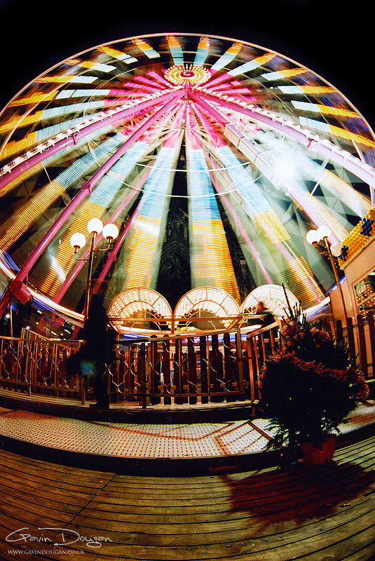 Ferris Wheel Fish-Eye by gdphotography
