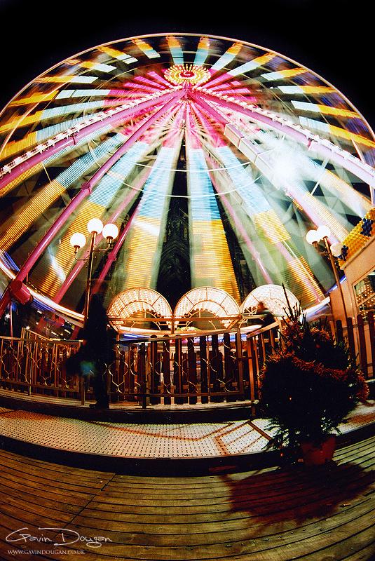 Ferris Wheel Fish-Eye by gdphotography