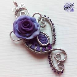 Colgante Purple Rose