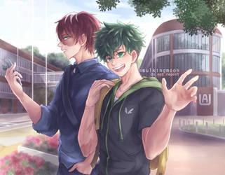 TODODEKU COLLEGE BOYS by sulkingmoon