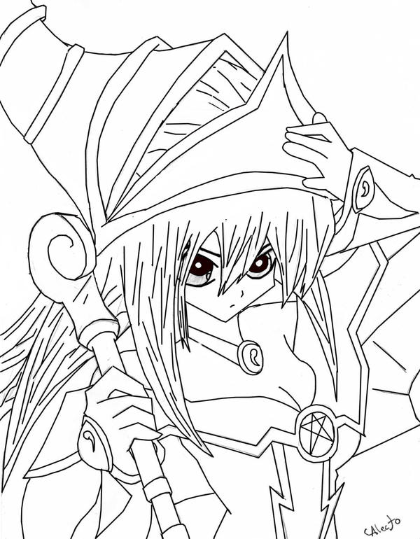 dark magician girl coloring pages - photo#21