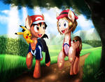 Ash and Serena - Pokemon Ponies by Althyra-Nex