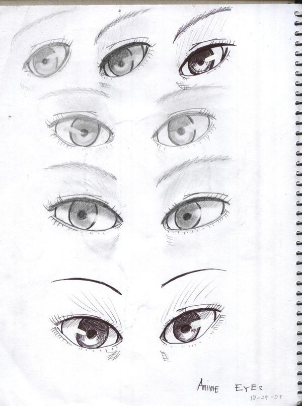 Anime eyes by namine16