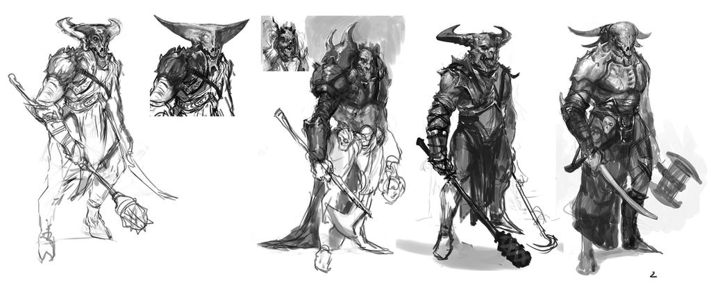 Minotaur - Sketches by thirdeyepl