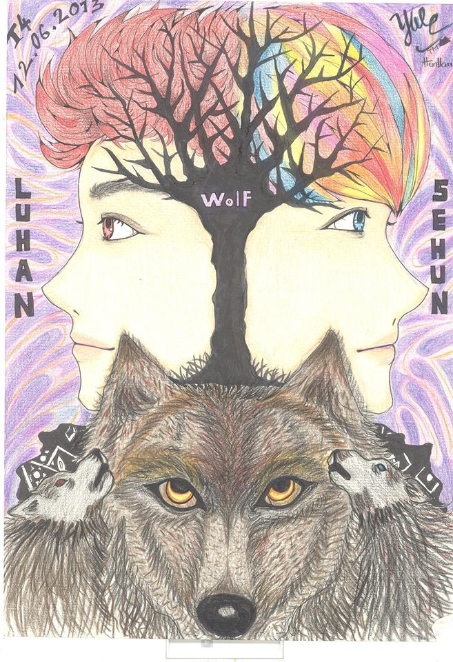 HUNHAN -EXO - WOLF - by TM-BlackcatHunhan Fanart Wolf