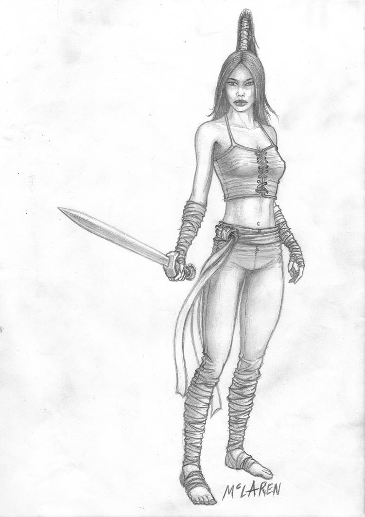RPG Character Concept sketch by FortriuPict