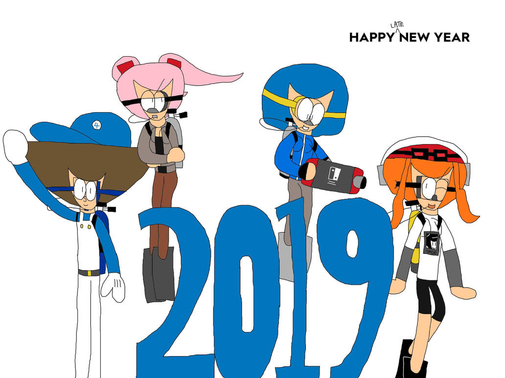 Smg4 late new year 2019 color by esteveztheart on deviantart - New years colors 2019 ...