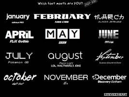 Font Month (2020 - 2021)
