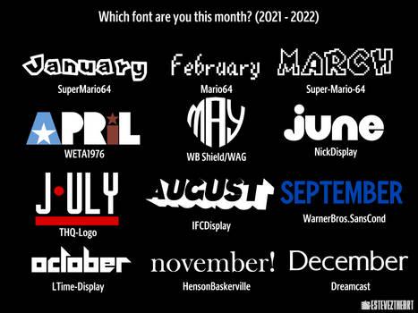 Font Month 2021