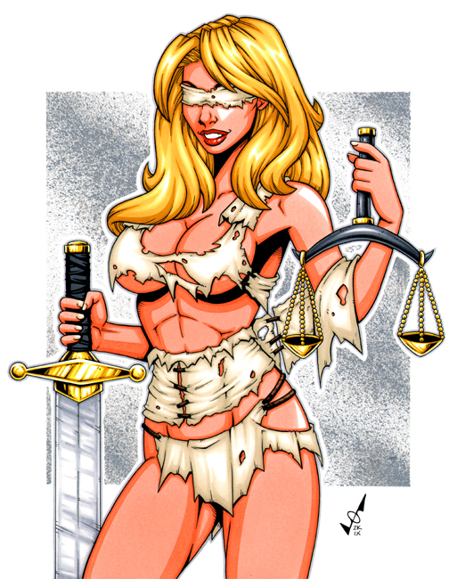 Justitia - Lady Justice by Insouciancee