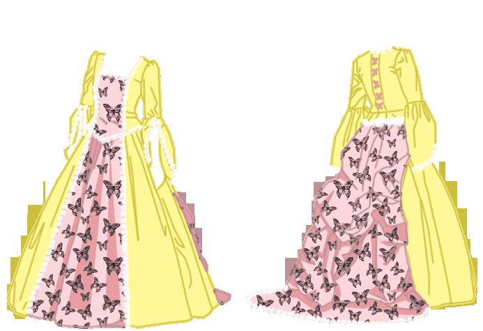 Steampunk/Neovictorian Fluttershy Gown by CKNelson