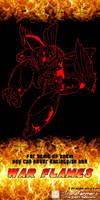 War Flames Rodimus teaser poster