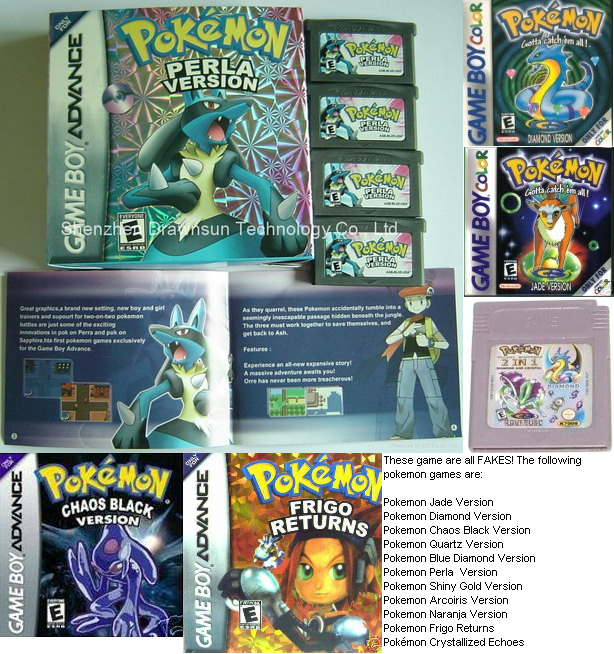 WHERE can i buy a fake pokemon game?