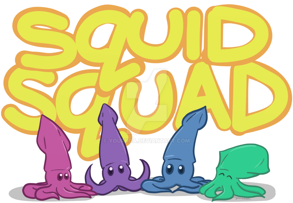Squid Squad - dA Prints, TeePublic and Redbubble! by BlueNightVessel