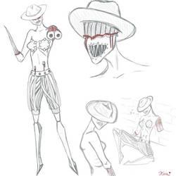 DUSK Cowgirl Sketchdump by yourKoa