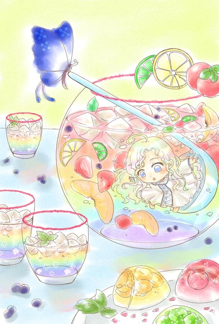 Rainbow punch bowl by ErinLaurant