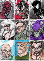Spidey Sketch Cards by Hodges-Art