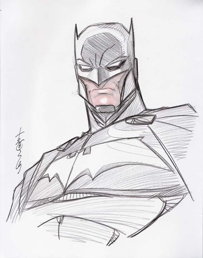 batman head sketch by hodges art