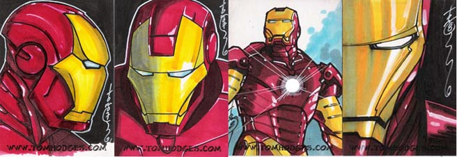 Iron Man Sketch Cards by Hodges-Art