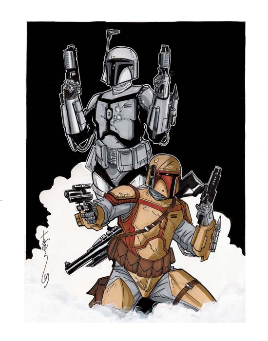Mandalorians by Hodges-Art