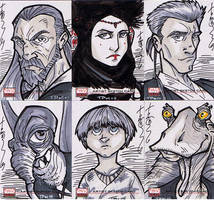 SW Galaxy Sketch Cards 01 by Hodges-Art