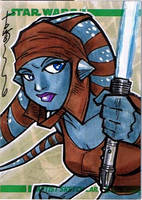 2008 Clone Wars Sketch card by Hodges-Art