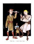 Hank, Dean and Master Obi-Wan