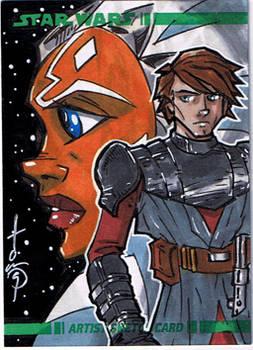 Topps Clone Wars Sketch Card