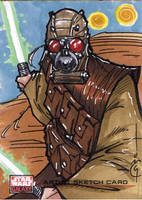Topps SW Galaxy 4 Sketch Card by Hodges-Art