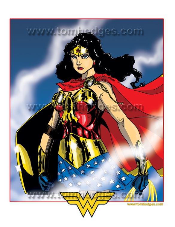 Wonder Woman CCC Print Color by Hodges-Art