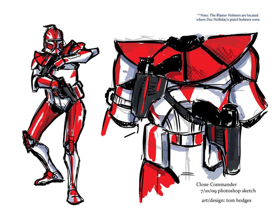 Clone Commander Ganch Concept by Hodges-Art