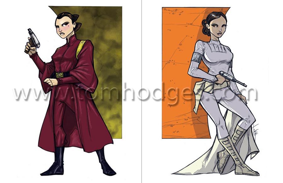 Ep1 and Ep2 Padme SWFD3 Prints by Hodges-Art